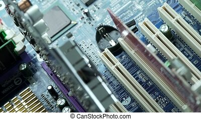 Processor on motherboard view