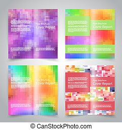 Brochure design templates set with abstract geometric...