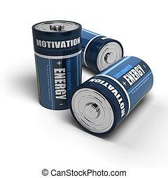 handlowy, Motywacja, -, energia, pomyślny, praca, Albo,...
