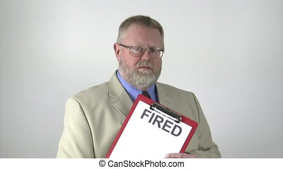fired - businessman presenting his dismissal