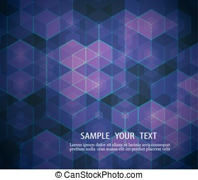 A geometric design of hexagons Abstract background Element  your  eps10