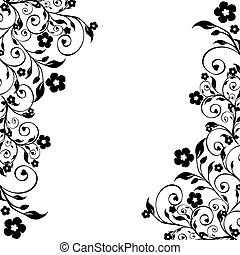 floral ornament - vector illustration of a floral ornament