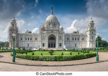 Panoramic image of Victoria Memorial, Kolkata - Beautiful...