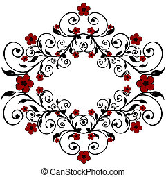 red floral ornament