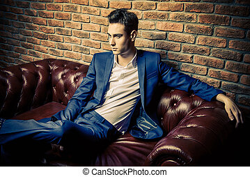 elegant handsome man - Imposing well dressed man in a...