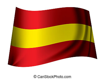 spain flag - red and yellow spain flag icon for the spanish...