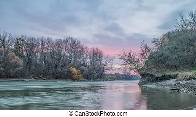 Kuban River. Russia. Sunset over the river - Beautiful...