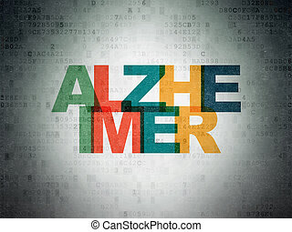 Health concept: Alzheimer on Digital Data Paper background