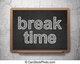 Timeline concept: Break Time on chalkboard background -...