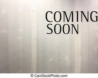 Coming soon text