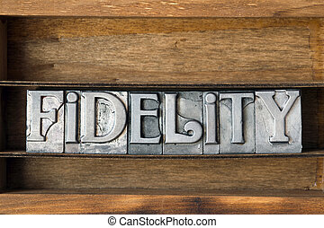 fidelity word tray - fidelity word made from metallic...