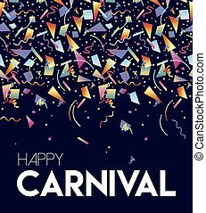 Happy Carnival party event poster design template - Happy...