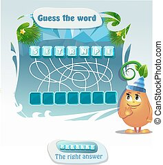guess the word present - Visual Game for children. Task:...