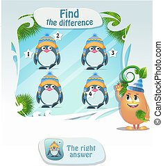Find he difference penguin 3
