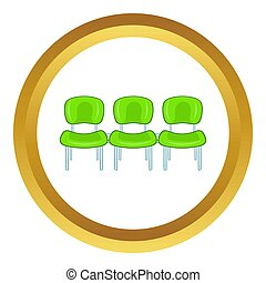 Green airport seats  icon