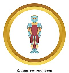 Ancient spartan gladiator legionnaire icon in golden circle,...