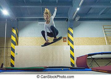 entrenamiento,  wakeboard, trampolín