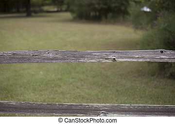 Wooden Fence - Fence blocking off a beautiful green pasture