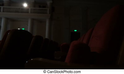 Empty theater seats ready for the big show. - Empty theater...