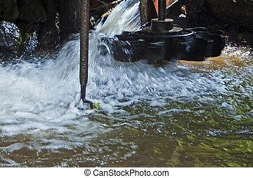 Watermills details 1 - The watermills of Valea Rudariei,...