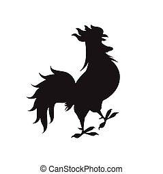 Happy New 2017 Year Rooster Bird Sign Asian Horoscope Flat...