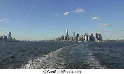 New York Harbor And City Skyline