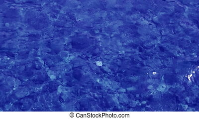 blue water background in shallow