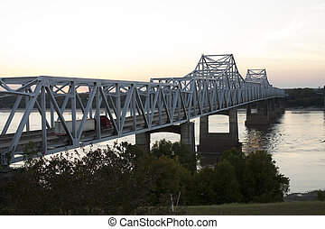 Bridge over Mississippi River - Bridge crossing the...