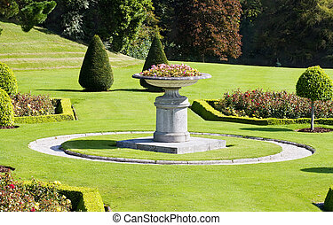 Italian gardens at Powerscourt in Ireland - Beautiful...