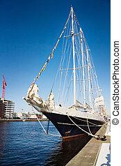Irish tall ship in Dublin port - Dublin old and new - Irish...