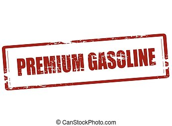 Premium gasoline - Stamp with text premium gasoline inside,...
