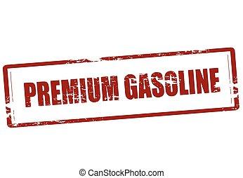 Premium gasoline - Stamp with text premium gasoline inside,...