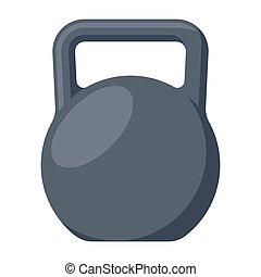 Black Kettlebell Illustration - Black kettlebell vector...