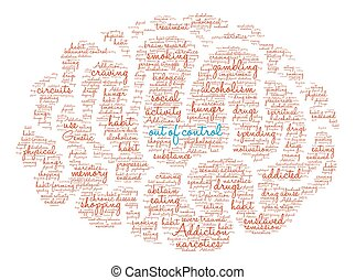 Out Of Control Brain Word Cloud - Out Of Control Addiction...