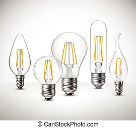 Filament Led Lightbulbs Realistic Set - Realistic set of...