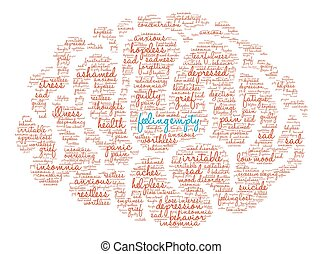 Feeling Empty Brain Word Cloud - Feeling Empty Brain word...
