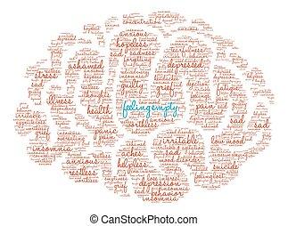 Feeling Empty Brain Word Cloud - Feeling Empty Brain word...