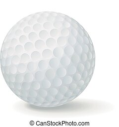 Golf Ball - Vector golf ball isolated in white