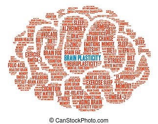 Brain Plasticity Brain Word Cloud - Brain Plasticity Brain...