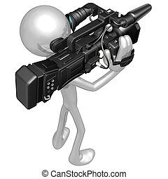 Cameraman - A Concept And Presentation Illustration In 3D