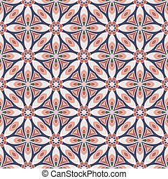Seamless symmetrical pattern