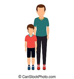father with son character