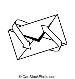 envelopes mail isolated icon