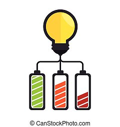 bulb light with battery icon