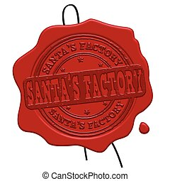 Santa's Factory red wax seal
