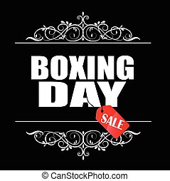 Boxing Day sale banner. - Boxing Day sale banner with swirls...