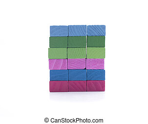 rectangles - several pieces of different colors, for...