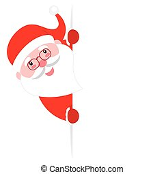 Santa Claus with a poster
