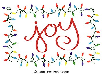 Joy Christmas Lights