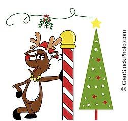Christmas Reindeer and Tree